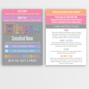 LuLaRoe Business Card / My Size Card - Ombre • ITW Visions