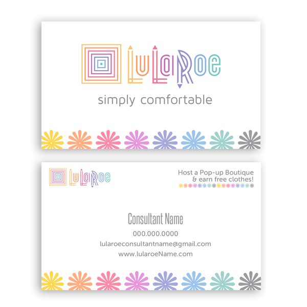 Lularoe business card flowers itw visions lularoe approved color business card design template reheart Gallery