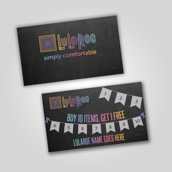 Lularoe loyalty punch card chalkboard with flags itw visions lularoe punch card for pop up boutique lularoe digital download colourmoves