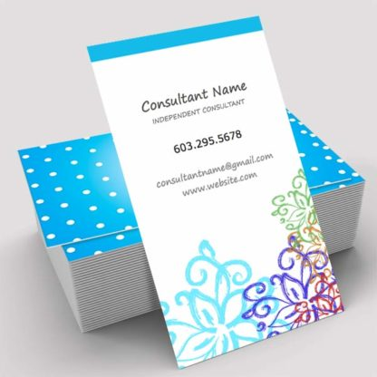 rodan and fields business, make your own business card online with already designed templates beautiful floral pattern