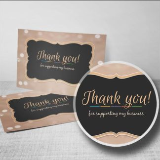 thank you for supporting my business postcard 4 x 6 - Thank You For Your Business Cards