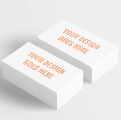 upload your own logo or business card design to order prints.