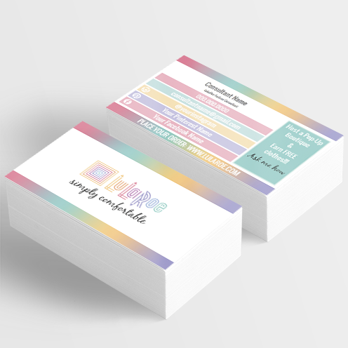 lularoe home office approved colors business card, lularoe marketing, lula roe, lularoe digital download