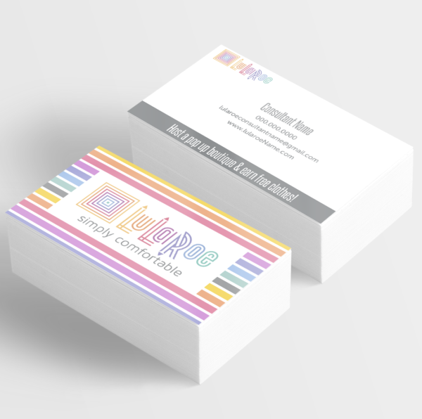 Lularoe Designed Business Cards For Fashion Consultants