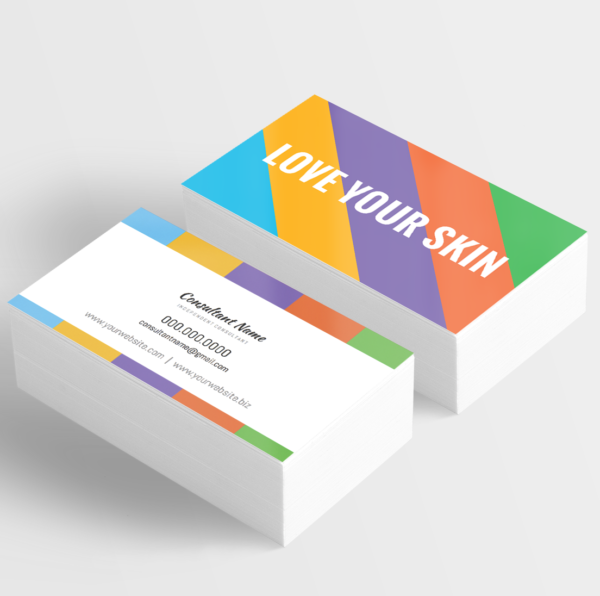 Skin care consultant business card horizontal love your skin give it a glow business card design template colourmoves