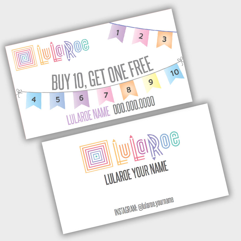 LuLaRoe Loyalty Punch Card - banner flags • ITW Visions