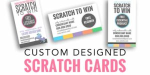 custom designed scratch to win cards, rodan and fields scratch cards, lularoe scratch cards, lipsense scratch to win cards