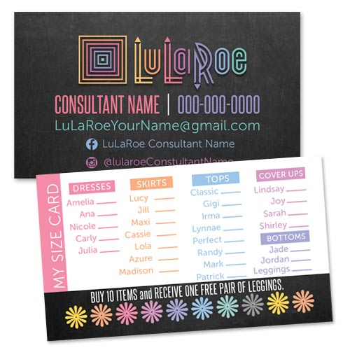 Lularoe business card my size card punch card itw visions lularoe business popup boutique punch card my size card colourmoves