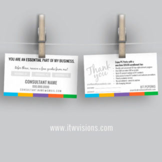 rodan and fields preferred customer referral card