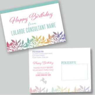 lularoe birthday card, lularoe business, lularoe marketing