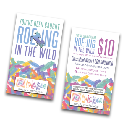 you've been caught roeing in the wild card for lularoe gift certificate