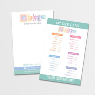 lularoe my size card prints digital download