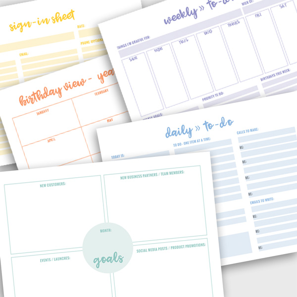 lularoe business planner sheets to stay organized