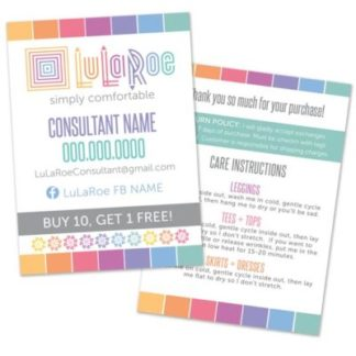 lularoe home office approved colors and fonts business card thank you care card