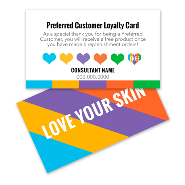 Customer loyalty card with hearts itw visions rodan and fields preferred customer loyalty card colourmoves