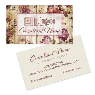 lularoe business card rustic roses