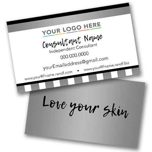 Skin Care Business Card Gray White