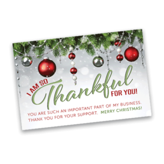 holiday thank you card for small business owner
