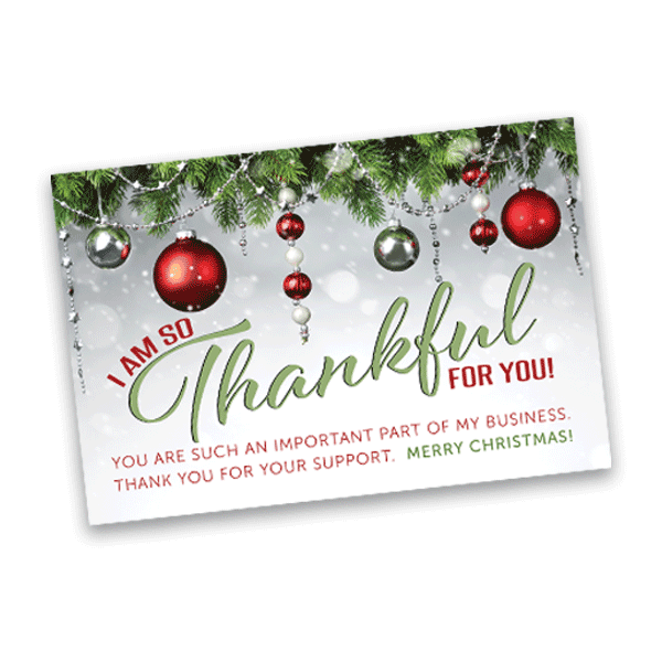 Holiday thank you card 4 x 6 merry christmas itw visions holiday thank you card for small business owner colourmoves
