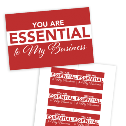 you are essential to my business, rodan and fields holiday gift tag