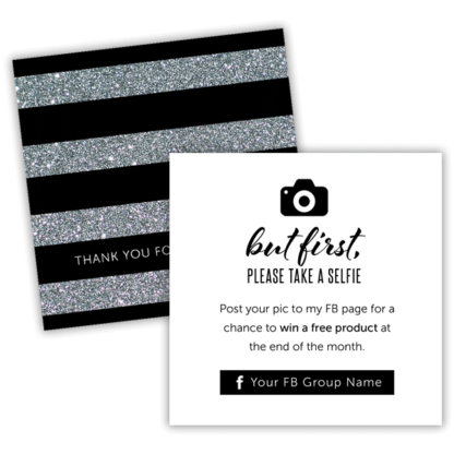 thank you card, but first take a selfie, rodan fields business card, rodan fields thank you card, lularoe thank you card