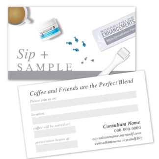 sip and sample card, rodan and fields business sip and sample card
