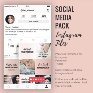 rodan and fields business, social media pack instagram tiles, instant download social media post bundle