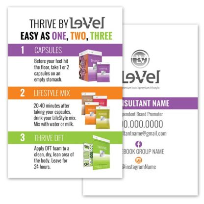 Thrive by le vel experience card itw visions thrive by le vel experience card thrive by level experience card colourmoves