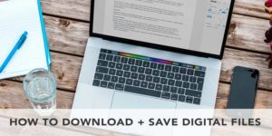 how to download and save digital pdf printable files