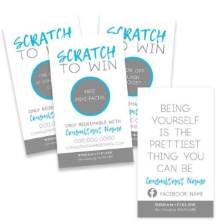 rodan and fields business, rodan and fields scratch cards