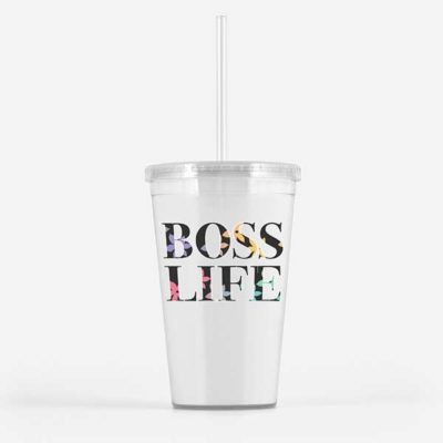 boss life beverage tumbler travel mug, boss life,
